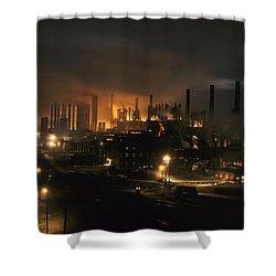Blast Furnaces Of A Steel Mill Light Shower Curtain