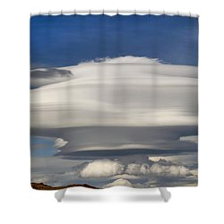 Blast Off Shower Curtain by Donna Kennedy