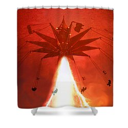 Blasting Off For Fun Shower Curtain by David Lee Thompson