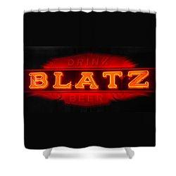 Blatz Beer  Shower Curtain by Susan  McMenamin