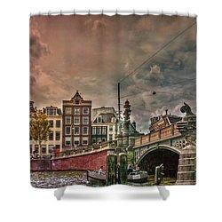 Shower Curtain featuring the photograph Blauwbrug -blue Bridge- by Hanny Heim