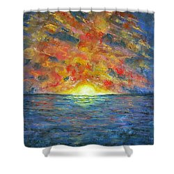 Blazing Glory Shower Curtain by Laurie Morgan