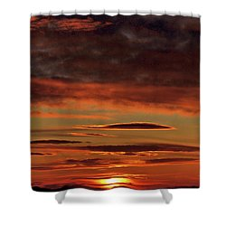 Shower Curtain featuring the photograph Blazing Sunset by Bryan Carter