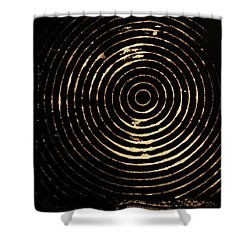 Bleached Circles Shower Curtain by Cynthia Powell