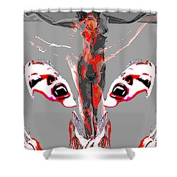 Bled For Life Shower Curtain by Tbone Oliver