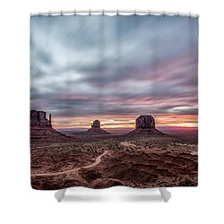 Blended Colors Over The Valley Shower Curtain