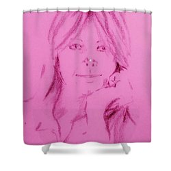 Shower Curtain featuring the drawing Blessed Are They by Denise Fulmer