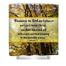 Shower Curtain featuring the photograph Blessed Be God by Sonya Nancy Capling-Bacle
