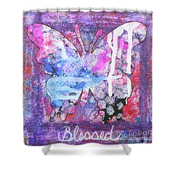Blessed Butterfly Shower Curtain