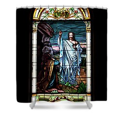 Blessed By Jesus Shower Curtain