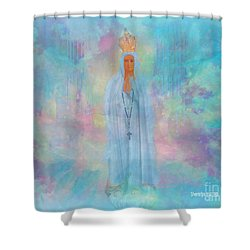 Blessed Mother Of Jesus Shower Curtain by Sherri's Of Palm Springs