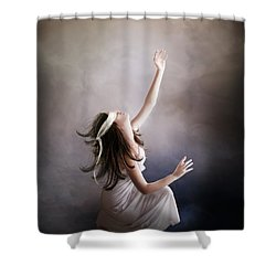 Blind Shower Curtain by Mary Hood
