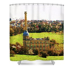 Bliss Mill Shower Curtain by Ron Harpham