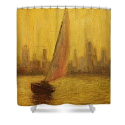 Blissful Sail Shower Curtain