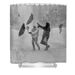 Blizzard On Third Avenue Shower Curtain