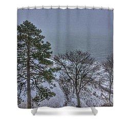 Blizzard Stella On Casco Bay Shower Curtain