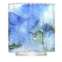 Bluebird Shower Curtain