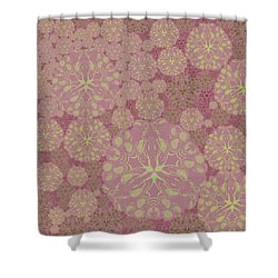 Blob Flower Painting #3 Pink Shower Curtain