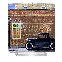 Bloch's Wall Shower Curtain