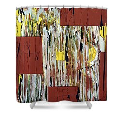 Shower Curtain featuring the painting Block Dance by Pat Purdy