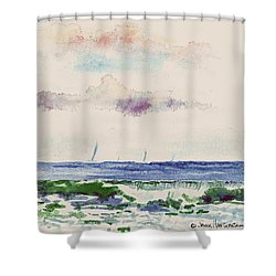 Block Island Sound Shower Curtain