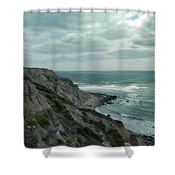 Block Island South East Lighthouse Shower Curtain by Skip Willits