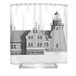 Block Island South East Rhode Island Shower Curtain by Anne Norskog