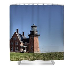 Block Island  Southeast Light Shower Curtain