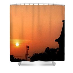 Block Island Sunset Shower Curtain