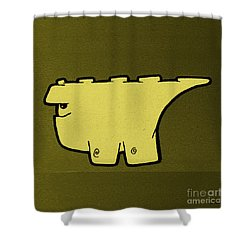 Blockasaurus Shower Curtain