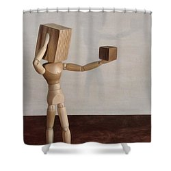 Shower Curtain featuring the photograph Blockhead by Mark Fuller
