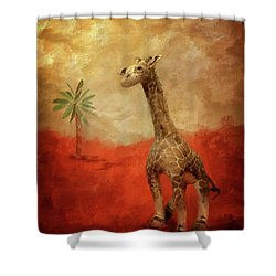 Shower Curtain featuring the digital art Block's Great Adventure by Lois Bryan