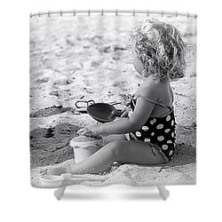 Blond Beach Baby Shower Curtain