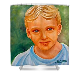 Blonde Boy Shower Curtain
