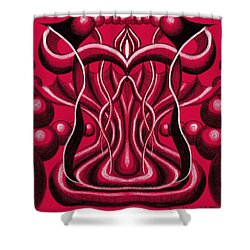 Blood Altar. Shower Curtain