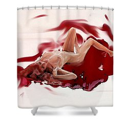 Blood Bath Shower Curtain by Tbone Oliver