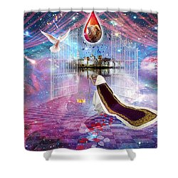 Blood Bought Shower Curtain by Dolores Develde