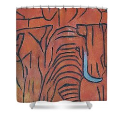 Blood Ivory Shower Curtain