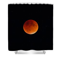 Blood Moon 2 Shower Curtain by Cathie Douglas