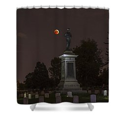 Blood Moon At The Colorado Volunteers Memorial Shower Curtain