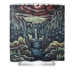 Blood Moon Shower Curtain by Cheryl Pettigrew