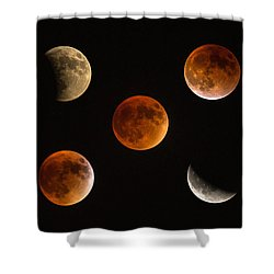 Blood Moon Eclipse Compilation Shower Curtain