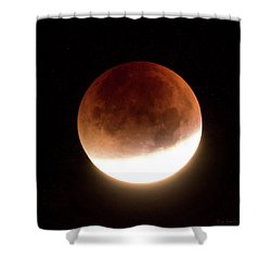 Blood Moon Eclipse Shower Curtain
