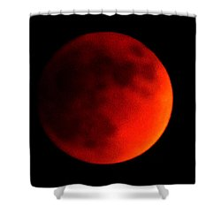 Blood Moon Shower Curtain