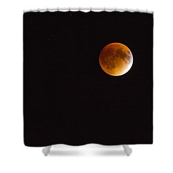 Blood Moon Luna Eclipse Shower Curtain by Michael Hubley