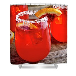 Shower Curtain featuring the photograph Blood Orange Margaritas by Teri Virbickis