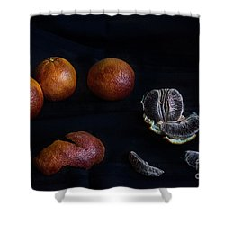 Blood Orange Symphony Shower Curtain