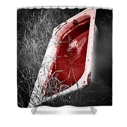 Bloody Bathtub Shower Curtain by Wim Lanclus