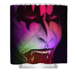 Bloody Demon Shower Curtain by Kevin Caudill