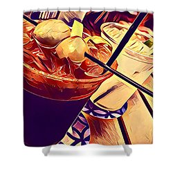 Bloody Mary And Moscow Mule Shower Curtain